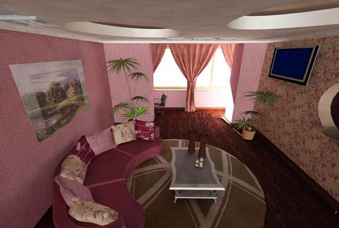 разный стиль в интерьере комнаты