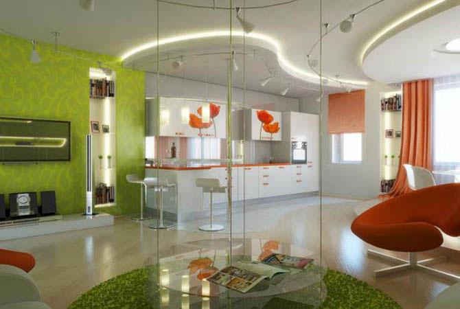 дизайн гостинных маленьких квартир