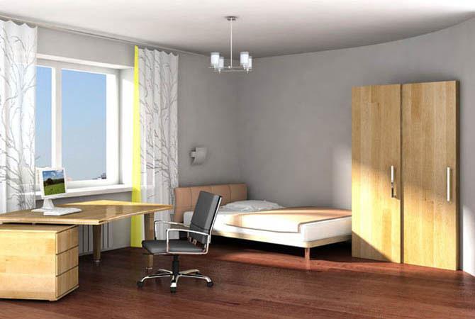 дизайн интерьера однокомнатной квартиры для женщины