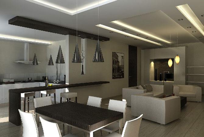 дизайн интерьера 1-ой квартиры