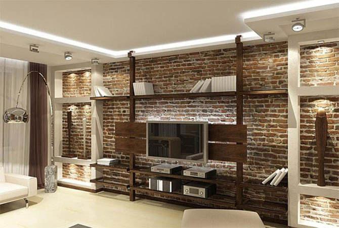 интерьер комнат с каминами