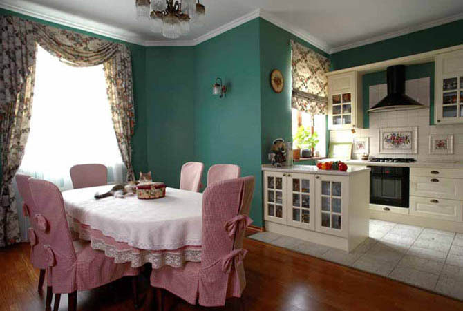 дизайны штор для кухни и комнат