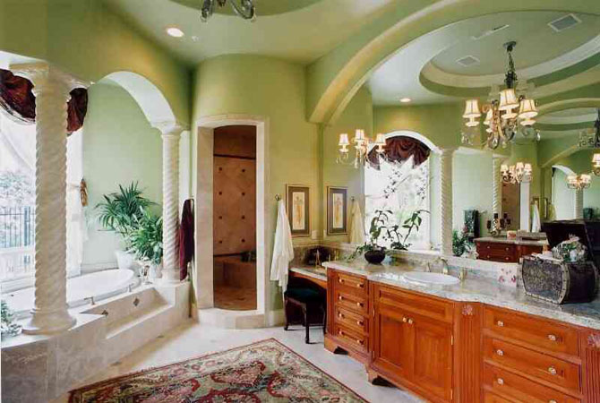 дизайнерские проекты ванных комнат