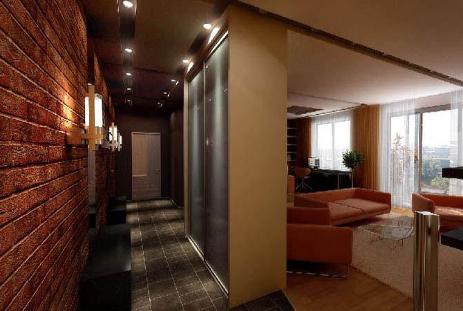 современный дизайн в квартире 60 квм