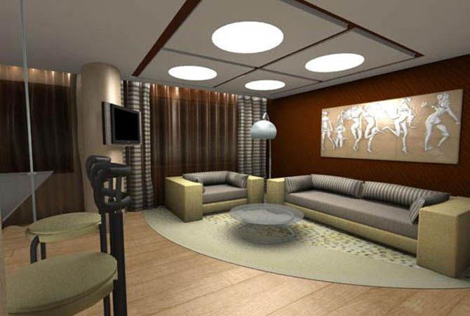 дизайн комнаты в стиле хай тек