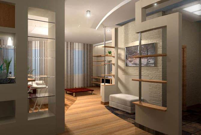 дизайн квартиры с зеленой мебелью