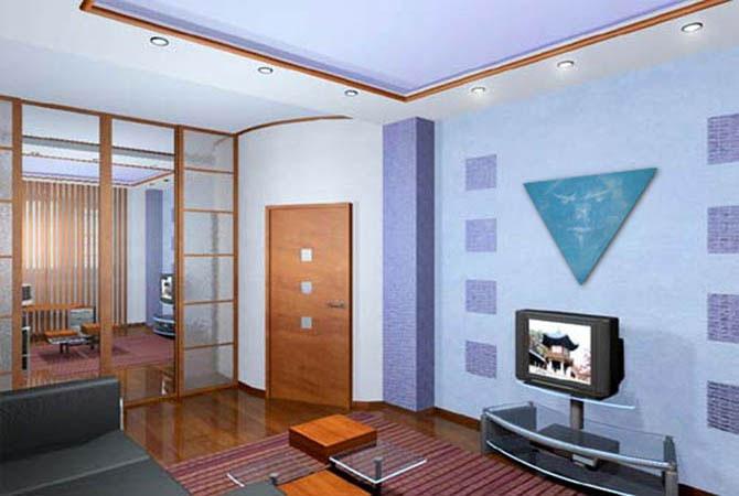 интерьер комнаты гостинная спальня