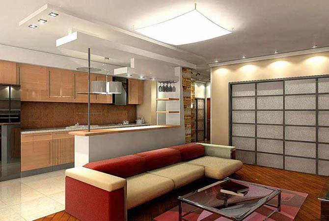 ремонт комнаты оформление потолка