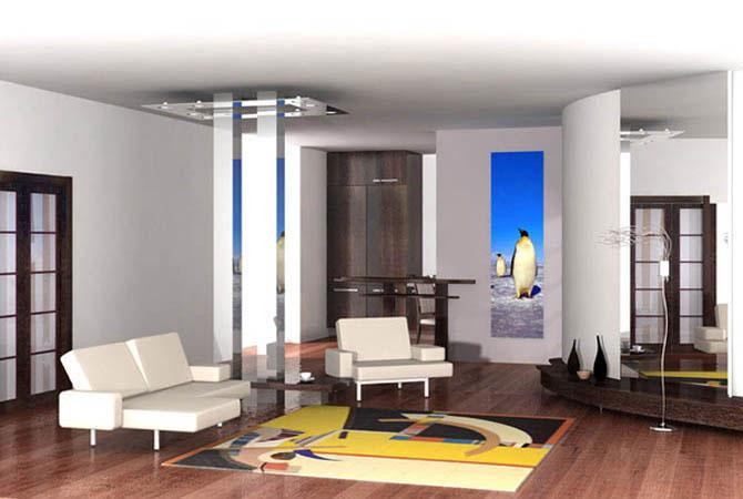 дизайн интерьер брусового дома