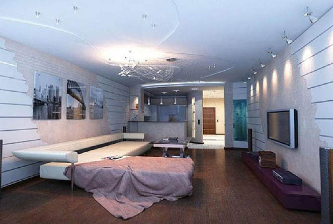 проект квартиры дизайн установка мебель люстры светилники